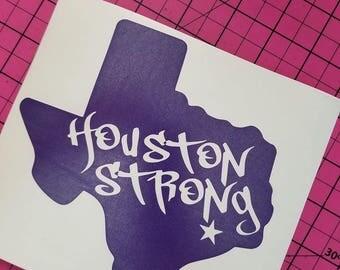 Houston Strong Vinyl Decal