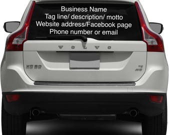 Business Car Decal Etsy - Custom car decals business