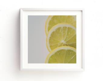 citrus print, lemon photograph, food photography, instant download, kitchen printables, yellow home decor, girls room, baby nursery wall art