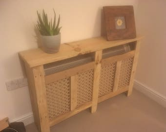 Radiator covers made with reclaimed timber