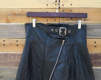 0332  American Vintage 50s Styled Leather Skirt