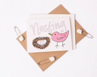 Greeting Card: Nesting Mom