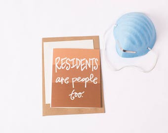 Greeting Card: Resident People