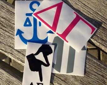 Delta Gamma Decals | Sorority Stickers | Sorority Decals | Official Greek Licensed Product