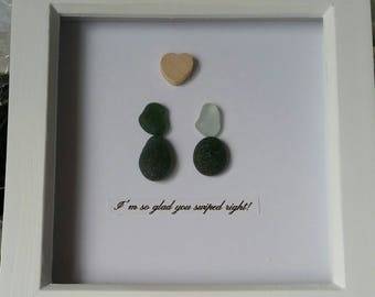 Handmade alternative Valentine's box frame