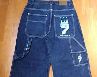 Dada Supreme jeans, vintage Damani baggy jeans, 90s hip-hop clothing, 1990s hip hop shirt, old school, OG, gangsta rap, size W 30