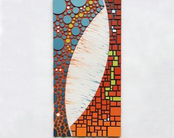 Mosaic | Wall Art | 'Polarity' | Wood Wall Art | Sculpture | 3d |
