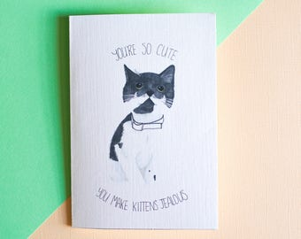 Funny Cat Themed Card