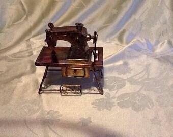 copper sewing machine music box