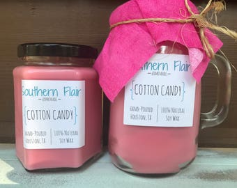 Cotton Candy - Pure Soy Candle Scented