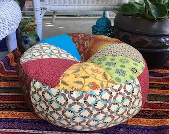 Unfilled 18 Inch 'Moroccan Bazaar' Floor Cushion Cover,  Made in Australia, Ottoman, Meditation Cushion, Pouffe, Boho, Hippy, Pouf