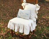 Canvas chair skirt