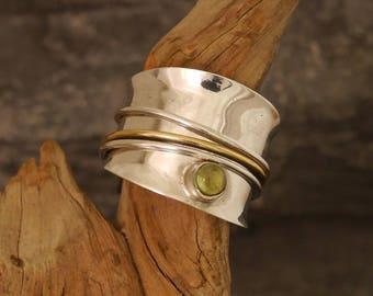 spinning ring, sterling silver spinner ring