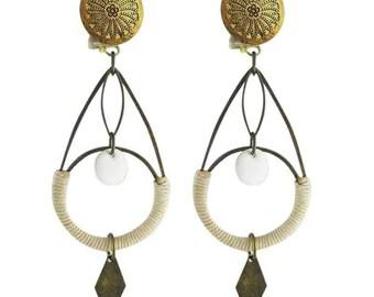 Earrings clips Helen (made in France)