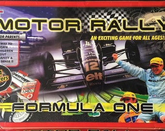Motor Rally Formula 1 1980's Vintage Board Game RARE VGC