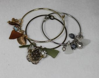 Sea Glass Bangles