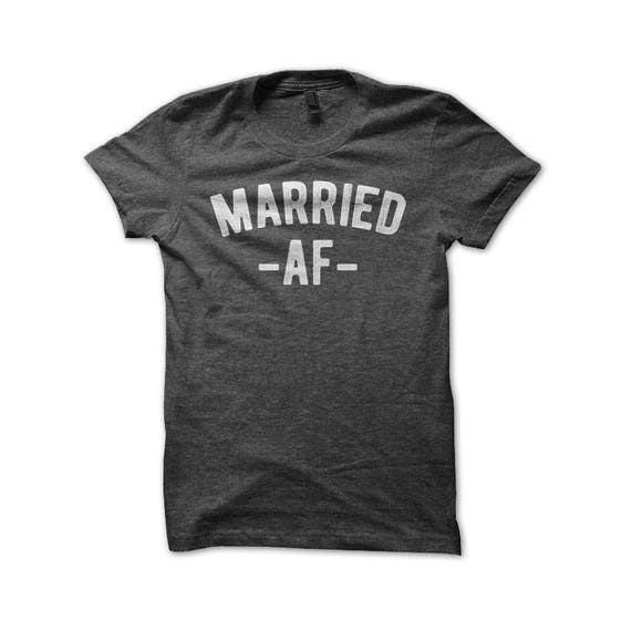Married af shirt funny newlywed his hers couples premium for Funny getting married shirts