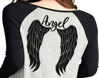 Angel wings svg, angel svg, feather wings svg, angel jpg, angel wings shirt design, angel clipart, wings svg, dxf, png, wings angel svg, jpg