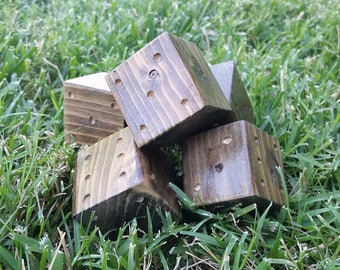 "Rustic OOAK Mini Yard/Large Table Dice-2""-Set of 5 dice"