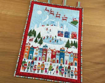 Fabric Advent Calendar, Holiday Countdown Calendar, Wall Hanging Advent, Heirloom Advent Calendar, Quilted Fabric Advent, Reusable Advent