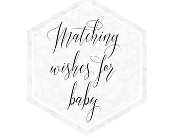 Matching 'Wishes for Baby' Baby shower Game, printable baby shower game
