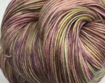 Superwash Merino/Nylon Sock Yarn - 75/25 - Kettle Dyed - approx. 463 yards - 100 grams - PRESSED FLOWERS