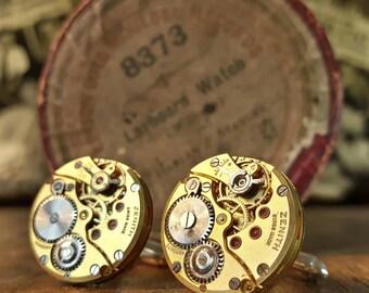 ZENITH Vintage Watch Movement Cufflinks