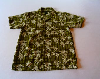 90's Polyester Weed Shirt Green
