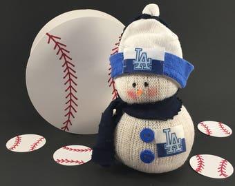 LA Dodgers,Los Angeles Dodgers,Snowman,LA Dodgers clothing,LA Dodgers fan gift,Gift for Dodgers fan,Dodgers decor,Dodgers collectible,Dodger