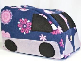 Piggywagon campervan pet bed for guinea pigs - chinchillas - small rabbits - hedgehogs - degus - rats - plush fleece hide - house - bed.