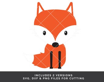 Fox svg - Fox svg file - Fox Clipart - Woodland svg - Animal svg - Fox Cut File - Fox Vector