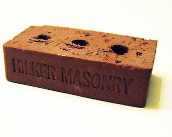 "Vintage HILKER MASONRY ""Mini Brick"" Advertising Collectible"