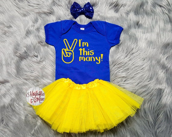 I'm This Many 2nd Birthday Tutu Outfit, 2nd Birthday Tutu Outfit, Toddler 2nd Birthday Shirt, Toddler Birthday, 2nd Birthday Outfit Girl