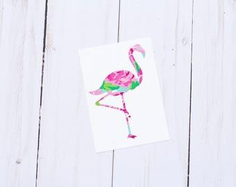 Flamingo Decal, Yeti Decal, Decal for Yeti, Beach Decal, Nautical Decal, Tumbler Decal, Custom Car Decal, Car Stickers, Custom Vinyl Decal