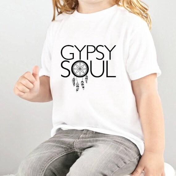 GYPSY SOUL, Kid's Tee, Gypsy Tee, Gypsy Soul Tshirt, Kid's Tshirts, Boho Tshirt , Gypsy Soul Shirt