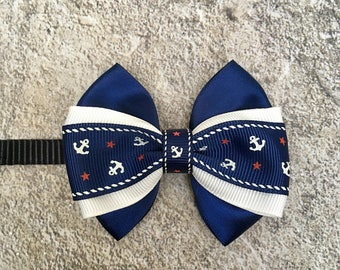 NAUTICAL THEMED Bow Tie • Dog Bows • Cat Bows • Bow Collar • Pet Bow Collar •
