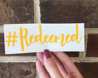 Redeemed Decal