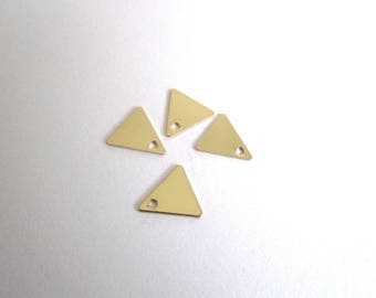 set of 4 Golden Triangle charms