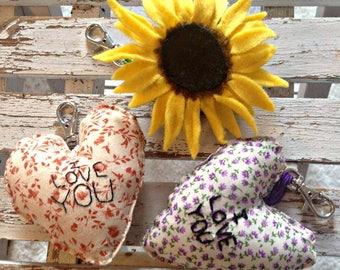 Handmade Sunflower Keyring