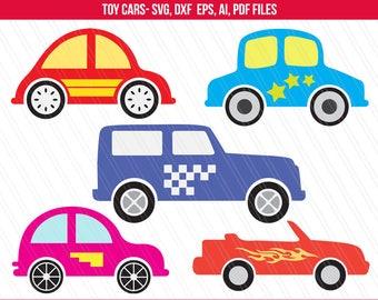 Car svg, Toy car svg, Toy car clipart for kids tshirt, Toys clipart, Car clipart, cricut -SVG, Ai, Dxf, Eps, Pdf - Instant digital download