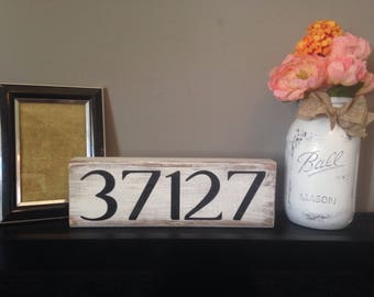 Zip code sign - wooden sign - rustic zip code sign - house number sign - wood house number sign - wood sign - rustic wood sign -  rustic