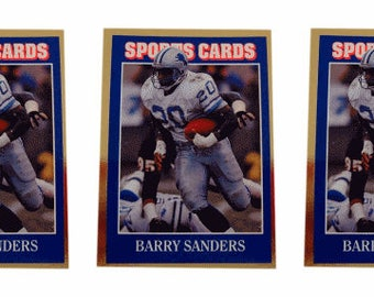 5 - 1992 Sports Cards #48 Barry Sanders Football Card Lot Detroit Lions
