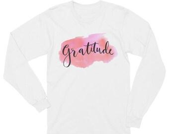 Gratitude Unisex Long Sleeve T-Shirt