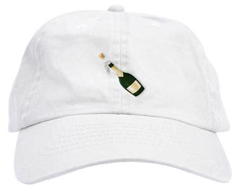 Champagne Emoji Dad Hat Baseball Cap Low Profile