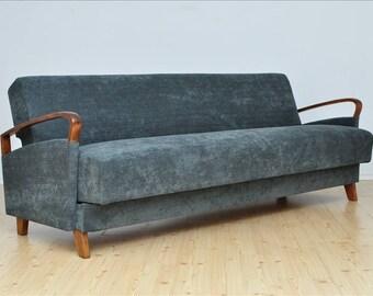 Vintage 3 Seat Sofa Design Mid Century Fully Restored 1960