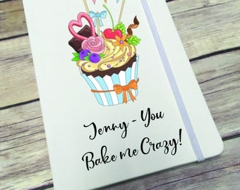 Personalised Lined Notepad- Gift - Present - Cake DD279