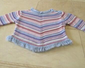 Multicolor cotton poncho for girl