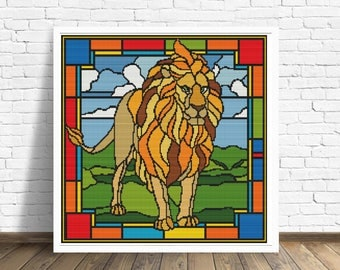 African Lion Cross Stitch Pattern PDF ~ Instant Download