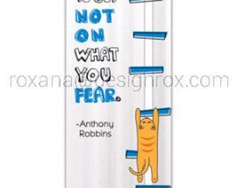 Motivational Bookmark - Fear