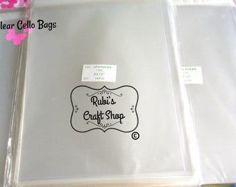 100 Clear Cello Bags 8 X 10 - Resealable Clear Bags-Clear Packaging Bags-Lip & Tape Self Seal-Self Adhesive - Party Favor Bags - Favor Bags